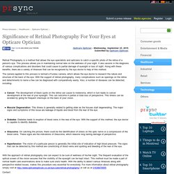 Significance of Retinal Photography For Your Eyes at Opticare Optician