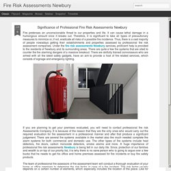 Fire Risk Assessments Newbury: Significance of Professional Fire Risk Assessments Newbury