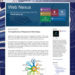 Web Nexus: The Significance of Responsive Web Design