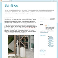 SaniBloc: Significance Of Hand Sanitiser Station UK At Key Places