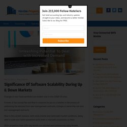 Significance Of Software Scalability During Up & Down Markets – Nimble Property Blog