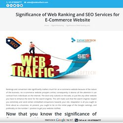 Significance of Ranking and SEO Services for E-Commerce Website