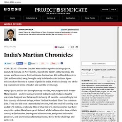 Shashi Tharoor explains the significance of India's space mission to Mars.