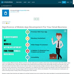 Significance of Mobile App Development For Your Small Business: techugopvtltd