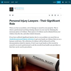 Personal Injury Lawyers - Their Significant Role