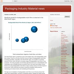 Packaging Industry Material news: Significant growth for biodegradable mulch films is observed in the Asia-Pacific region