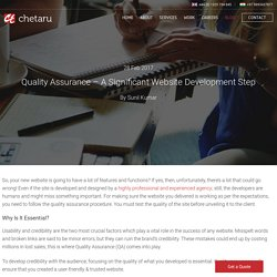 Quality Assurance - A Significant Website Development Step - Chetaru