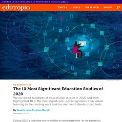 The 10 Most Significant Education Studies of 2020
