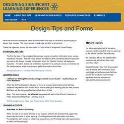 Designing Significant Learning Experiences