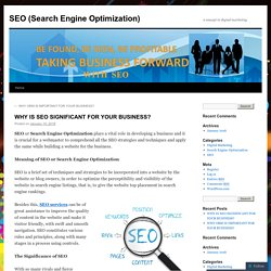 WHY IS SEO SIGNIFICANT FOR YOUR BUSINESS?