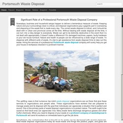 Portsmouth Waste Disposal: Significant Role of a Professional Portsmouth Waste Disposal Company