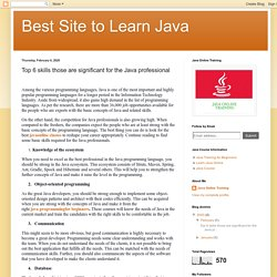 Best Site to Learn Java: Top 6 skills those are significant for the Java professional