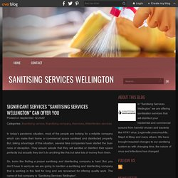 """Significant services """"Sanitising Services Wellington"""" can offer you - Sanitising Services Wellington"""