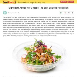 Significant Advice For Choose The Best Seafood Restaurant