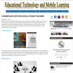 4 Significant Apps for Social Studies Teachers