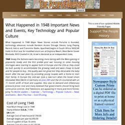 What Happened in 1948 including Pop Culture, Significant Events, Key Technology and Inventions