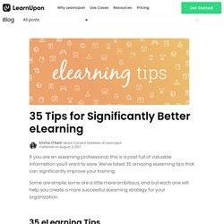 35 Tips for Significantly Better eLearning