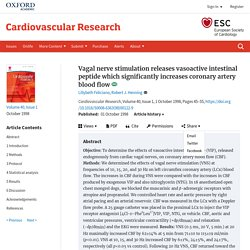 Vagal nerve stimulation releases vasoactive intestinal peptide which significantly increases coronary artery blood flow