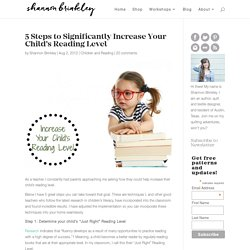 5 Steps to Significantly Increase Your Child's Reading Level