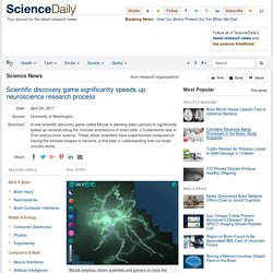 Scientific discovery game significantly speeds up neuroscience research process