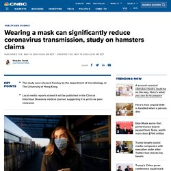 Wearing a mask can significantly reduce coronavirus transmission: Study