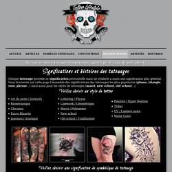 La signification des tatouages - Tattoo LifeStyle
