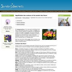 Signification des couleurs et du nombre des fleurs