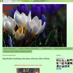 BBB: Signification ésotérique des deux colonnes Jakin et Boaz