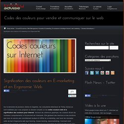 Signification des couleurs en E-marketing et en Ergonomie Web