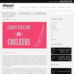 Identité visuelle : signification des couleurs - Studio graphique Bruxelles