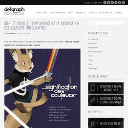 Identité visuelle : signification des couleurs (infographie) - Studio graphique Bruxelles - Deligraph