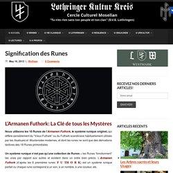 Signification des Runes - Lothringer Kultur Kreis