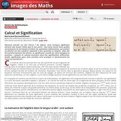 Calcul et Signification