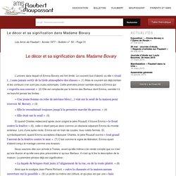 Le décor et sa signification dans Madame Bovary