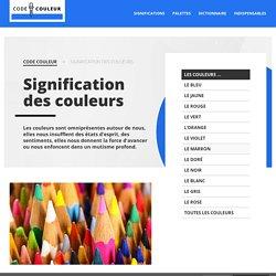 SIGNIFICATION COULEURS - Symbolique des couleurs