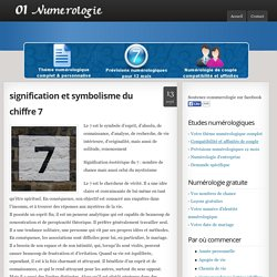 Num rologie g om trie sacr e pearltrees for Signification du chiffre 13
