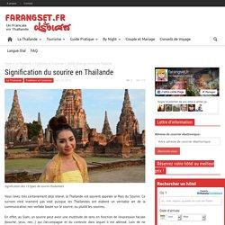 Signification du sourire en Thaïlande