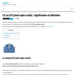 CC ou CCI (mail copie caché) : signification et utilisation - Smart1Fo