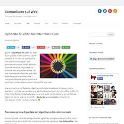 Significato dei colori sul web e relativo uso