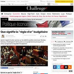 """Que signifie la """"règle d'or"""" budgétaire"""