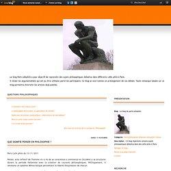 Que signifie penser en philosophie ? - Le blog de paris-cafephilo