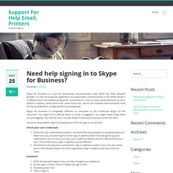 Need help signing in to Skype for Business?