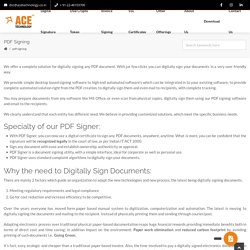 Sign your PDF document with automated software