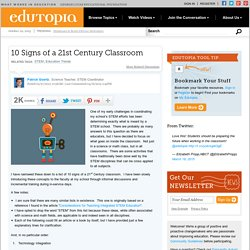 10 Signs of a 21st Century Classroom