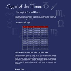 Signs of the Times: Astrological Eras and Phases