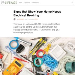 Signs that Show Your Home Needs Electrical Rewiring