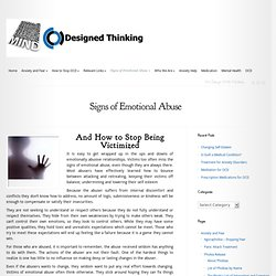 Signs of Emotional Abuse and what you can do about it