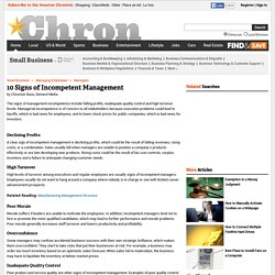 10 Signs of Incompetent Management