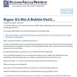 Signs: It's Not A Bubble Until...