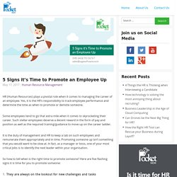 5 Signs it's Time to Promote an Employee Up